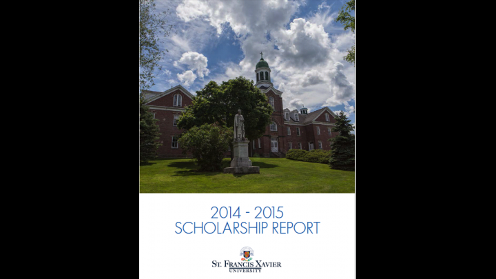 Scholarship Report Image 2014-2015