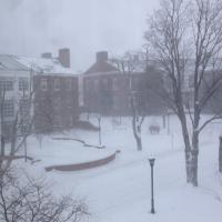 Snow storm Schwartz school