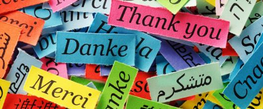 """Thank you"" in modern languages"